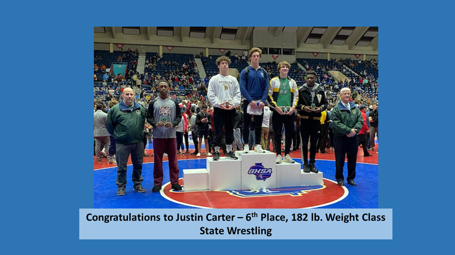 Justin Carter - 6th place at State